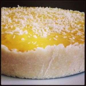 Raw Food Recipe: Raw Mango and Coconut Cheesecake