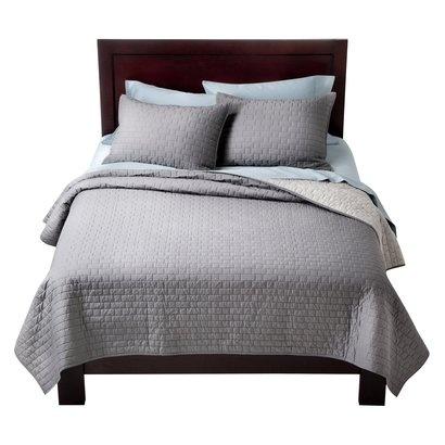 Target Home™ Tile Stitch Quilt - GrayGuest Room, Tile Stitches, Bedrooms Redo, Beds, Tile Quilt, Master Bedrooms, Gray Quilt, Bedrooms Ideas, Stitches Quilt