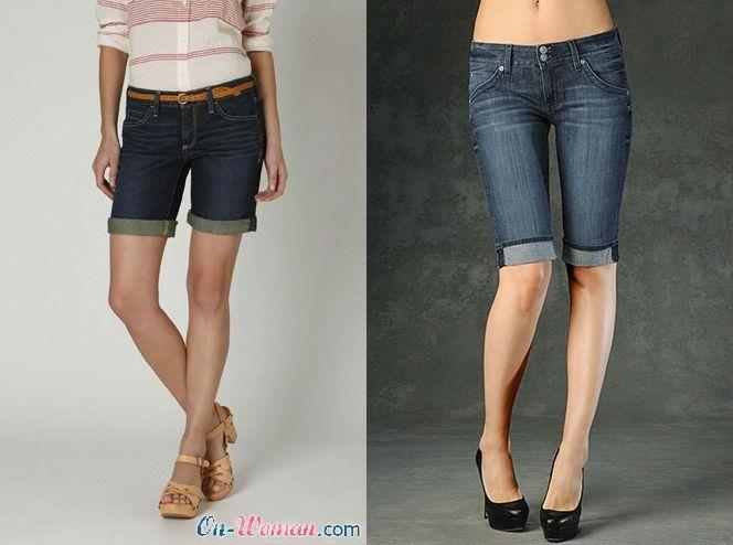 Женские длинные шорты