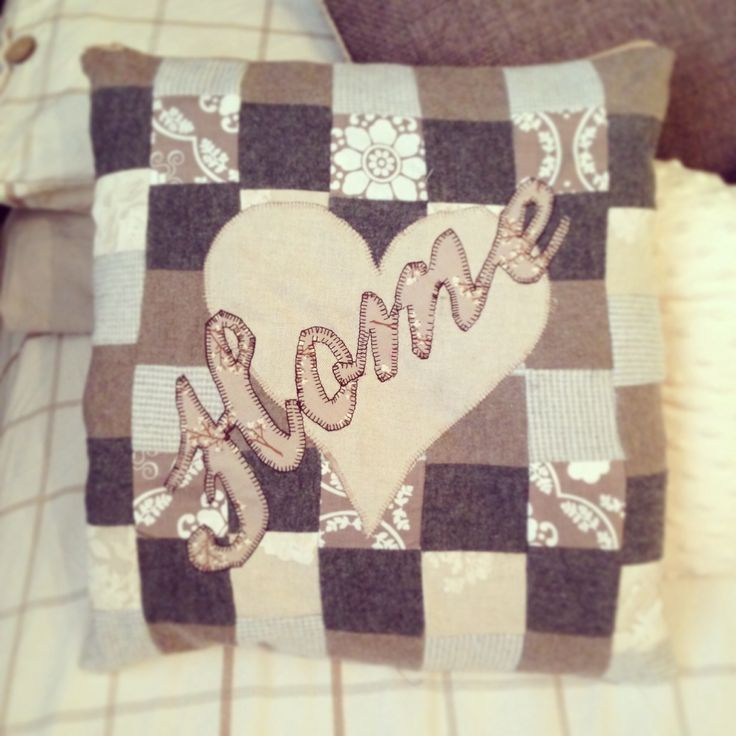 'Home' personalised handmade pillow! - The Craft Tin