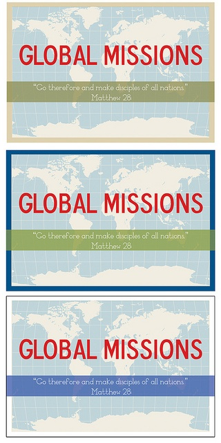Color Options For Missions Postcard By Marianne E. Tolosa, Via Flickr