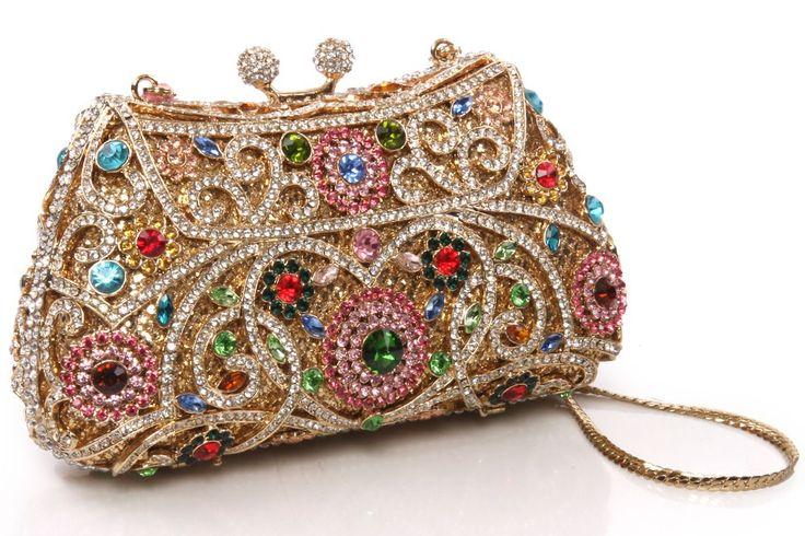 #clutch #mala #festa #party #crystals  Womens 'Ginny' Crystals Rhinestones Party Clutch
