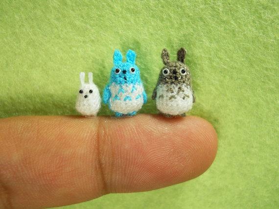 Tiny Totoro Amigurumi : 17 Best images about Crochet micro on Pinterest Free ...