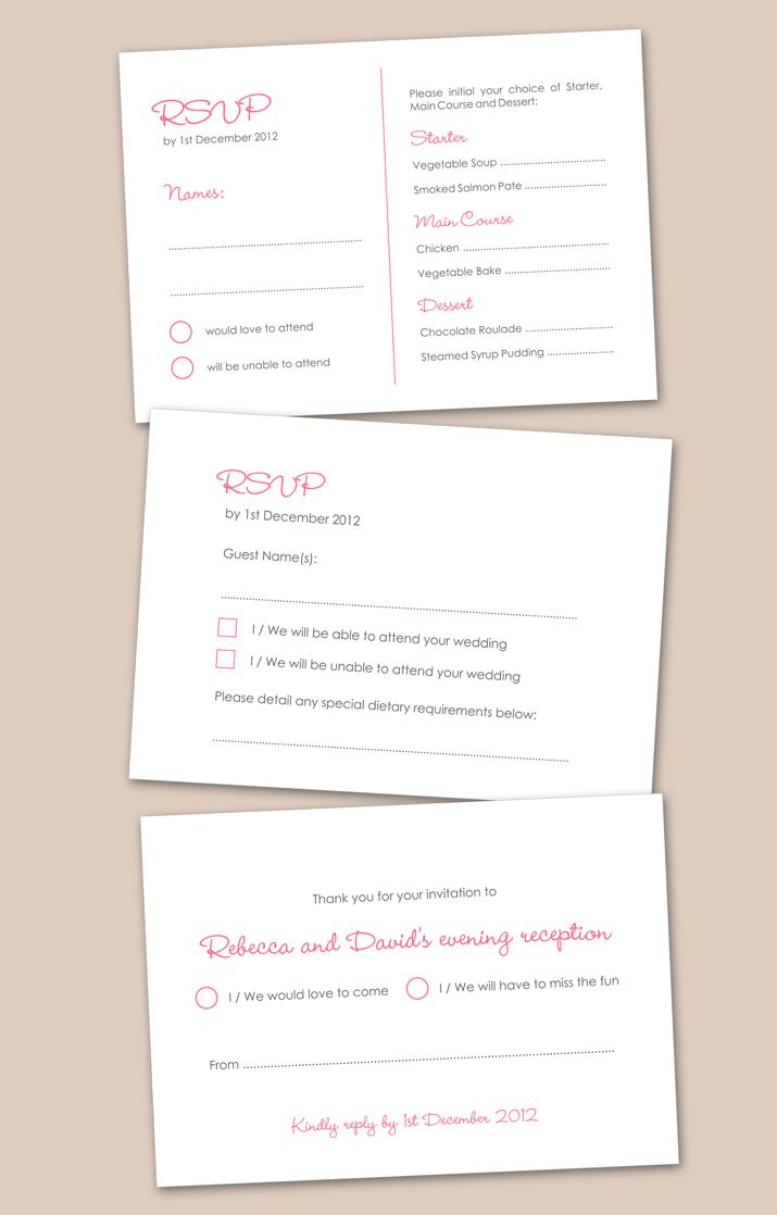 rsvp wording suggestions