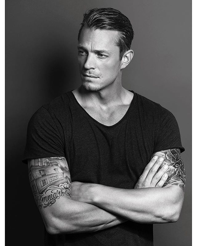 Had the opportunity to take a few quick portraits of Joel Kinnaman at his home in LA last week. A great actor, and a seriously handsome guy. ||Grooming by @christinaguerra ||