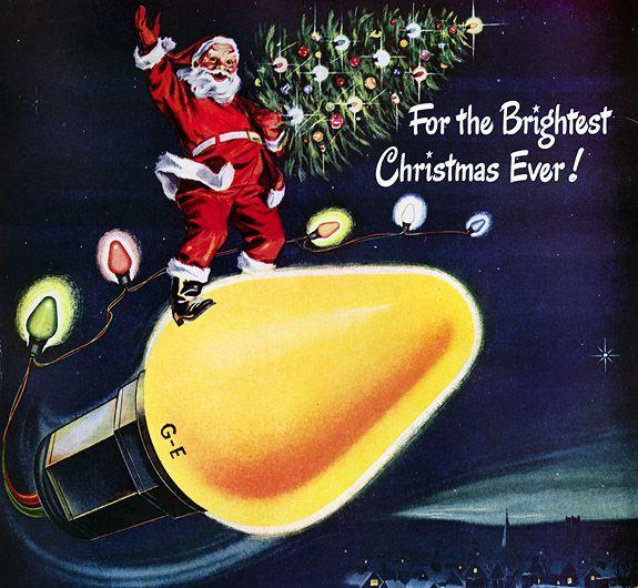 Vintage 1950s Christmas Lights   Vintage Christmas Advent Calendar