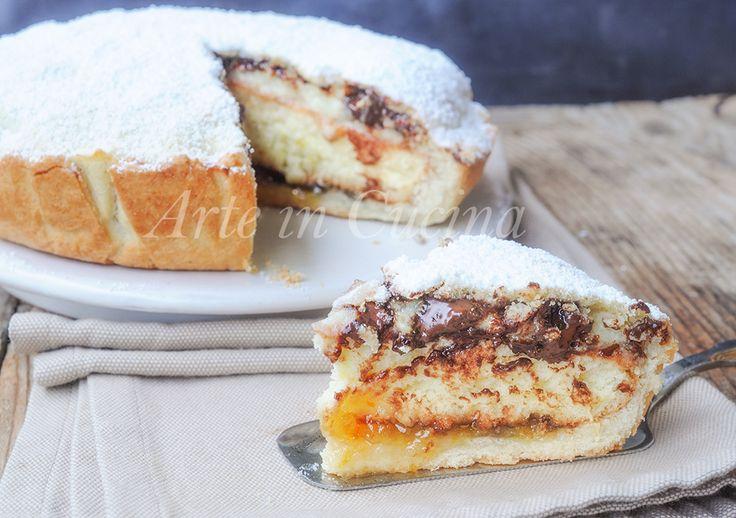 Torta+monterossina+ricetta+dolce+ripieno+con+crema