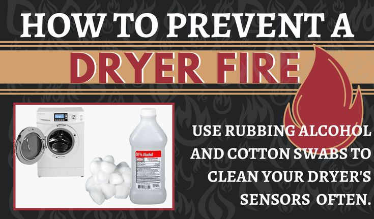 NFPA Prevent Dryer Fires Statistics - NATIONAL FIRE PROTECTION ASSOCIATION Home Fires Clothes Dryers - How to prevent a dryer fire - Clean Dryer Sensors