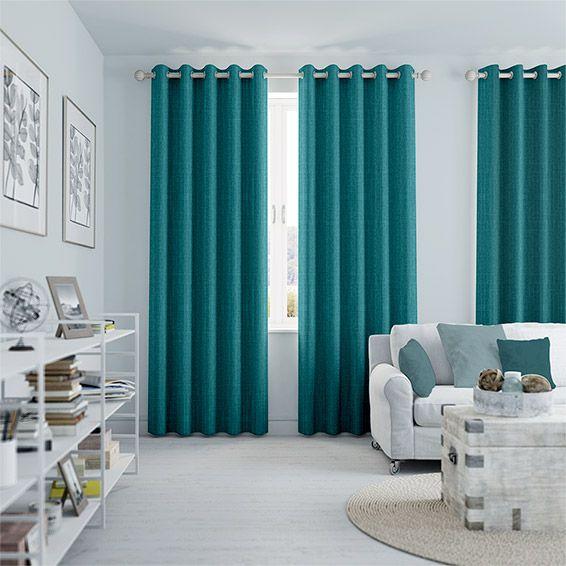 Charming Cavendish Caribbean Blue Curtains