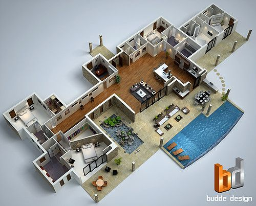 3d Floor Plan Hawaii 3d House Plans Modern Floor Plans Mansion Floor Plan