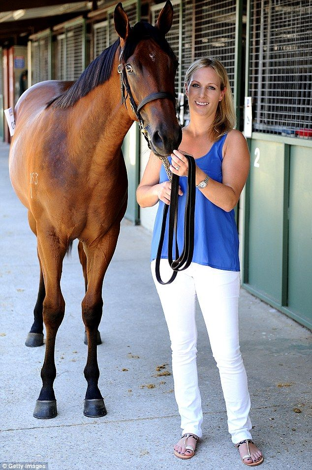 Accomplished horsewoman: She was offered the role of patron for Magic Millions after winning a silver medal with Team GB at the 2012 London Olympics