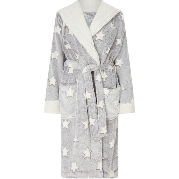 John Lewis Star Embossed Fleece Dressing Gown ($52) ❤ liked on Polyvore featuring intimates, robes, fleece dressing gown, john lewis, wrap robe, fleece bathrobe and patterned robes