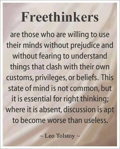 Freethinkers; Critical thinking skills, Christians understand it, there can't be a better answer or a worst answer...