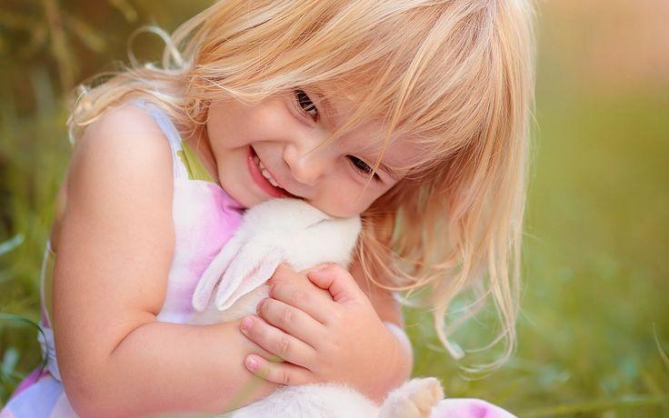 Cute Friendship with Rabbit Wallpaper [1920x1200]