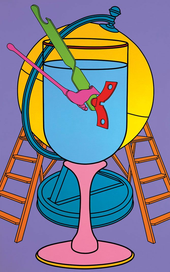 Untitled (Wine Glass), 2000. Acrylic on canvas. 290 x 178cm