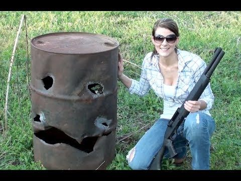 ▶ THIS GIRL CAN HANDLE A SHOTGUN!! - YouTube