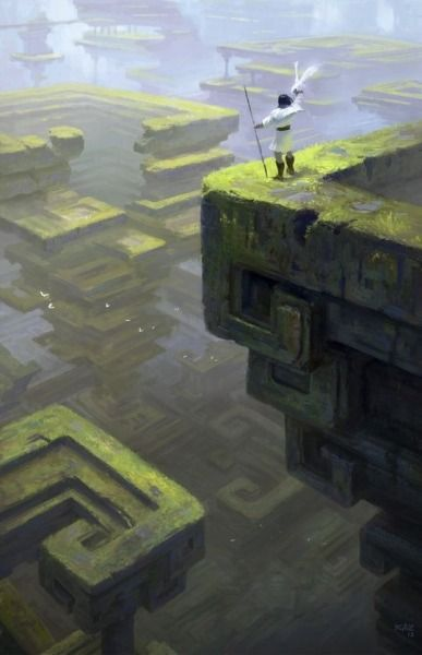 fantasy-art-engine:  Bismuth Ruins by Kazunori Aruga