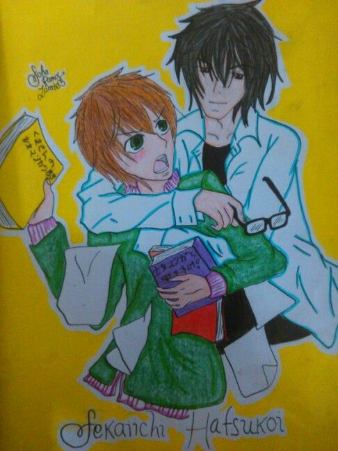 Drawing of Onodera and Takano Anime: Sekaiichi Hatsukoi