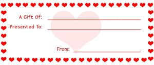 Go to printable gift certificate coupons...
