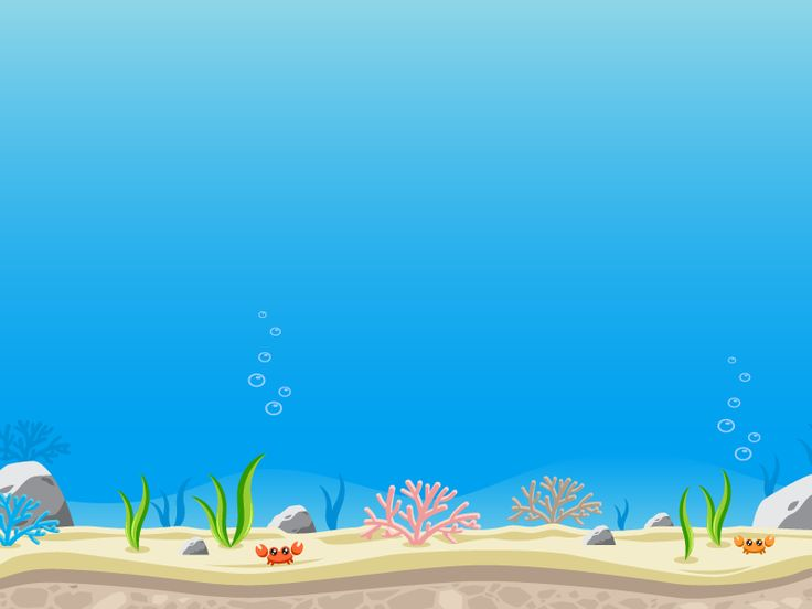 Sidescroller Game Background Under The Ocean Under The