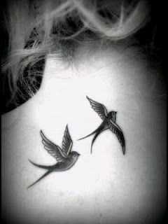 Swallow tattoo. Like the birds.. not the location :)