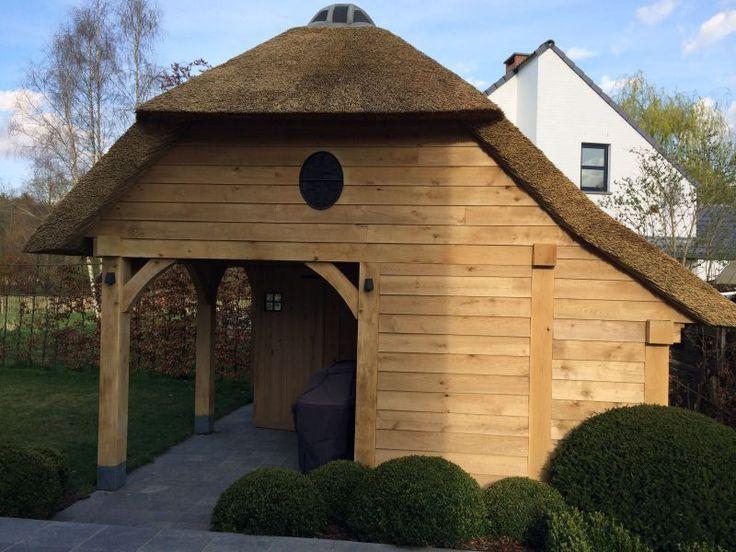 landelijke terrasoverkapping in hout | Wood in Style | Exclusieve Tuinhuizen