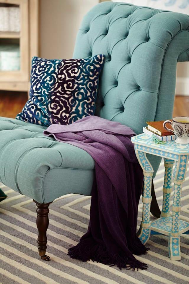 Armchair blue&purple