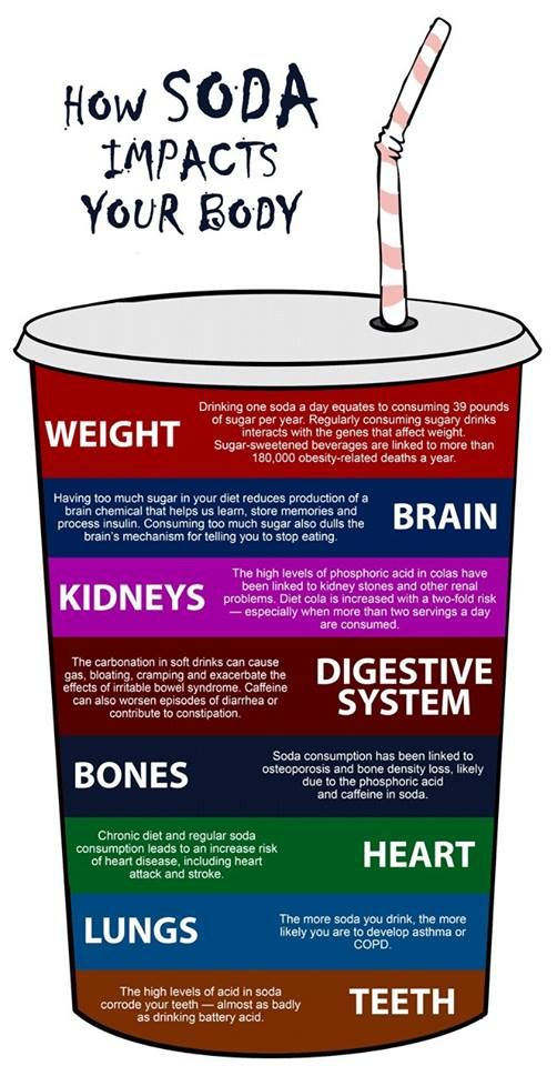 How Soda Impacts our Body. #infographic
