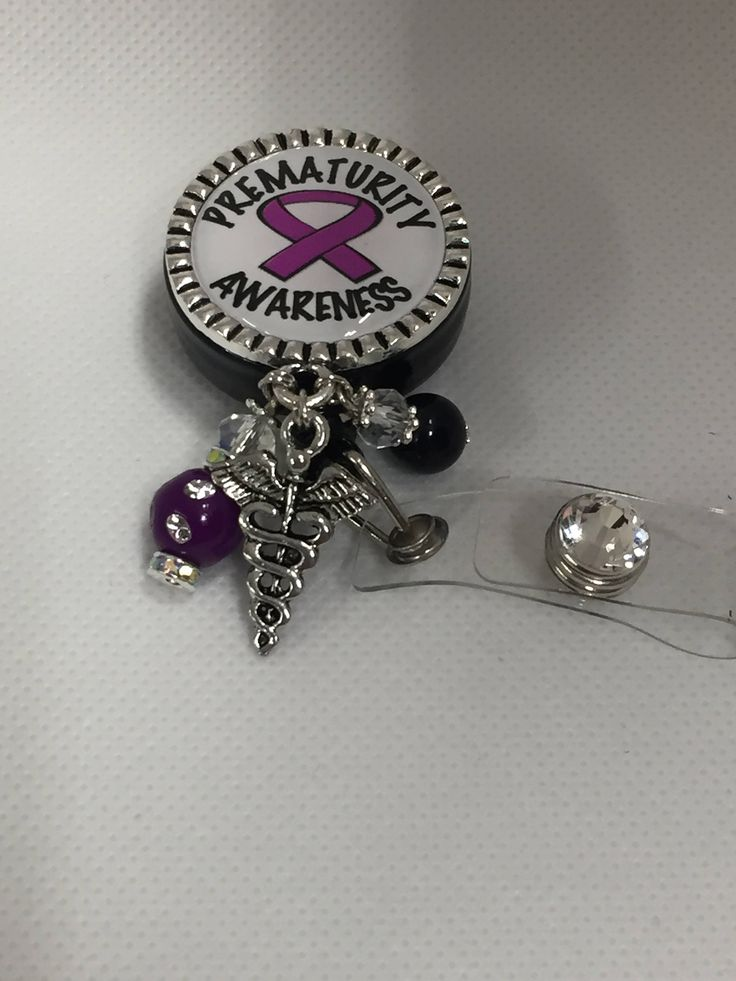 Excited to share the latest addition to my #etsy shop: Prematurity Awareness ID holder badge reel/ NICU ID Holder badge reel/ L&D id holder/ retractable id holder/ nurse id holder http://etsy.me/2CKSFwg #accessories #nicuidholder #rnidholder #preemieidholder #preemieba