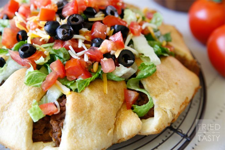 The Pampered Chef Taco Ring is one of my favorite variations of the taco. This dish is simple to throw together, and enjoyed by all! The perfect taco dinner