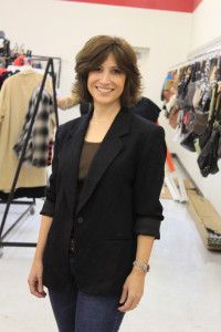 A must have item for every closet is a black blazer!   We found this for $1.75 at Family Thrift Outlet