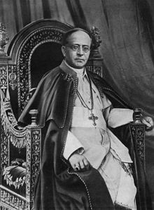 Pius XI  Papacy began6 February 1922  Papacy ended10 February 1939  PredecessorBenedict XV  SuccessorPius XII  Orders  Ordination20 December 1879  Consecration28 October 1919  byAleksander Kakowski  Created Cardinal13 June 1921  Personal details  Birth nameAmbrogio Damiano Achille Ratti  Born31 May 1857  Desio, Lombardy-Venetia, Austrian Empire  Died10 February 1939 (aged81)  Apostolic Palace, Vatican City  Previous postArchbishop of Milan (1921–1922)