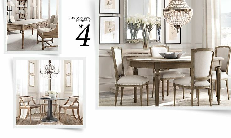 Dining room restoration hardware for the home pinterest for Restoration hardware dining room ideas