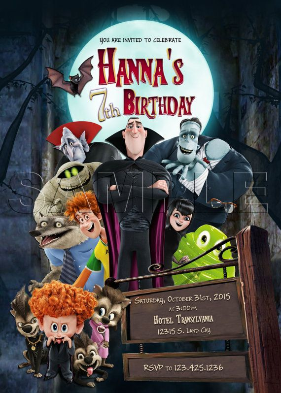 HOTEL TRANSYLVANIA INVITATION Hotel Transylvania 2 by CuteMoments