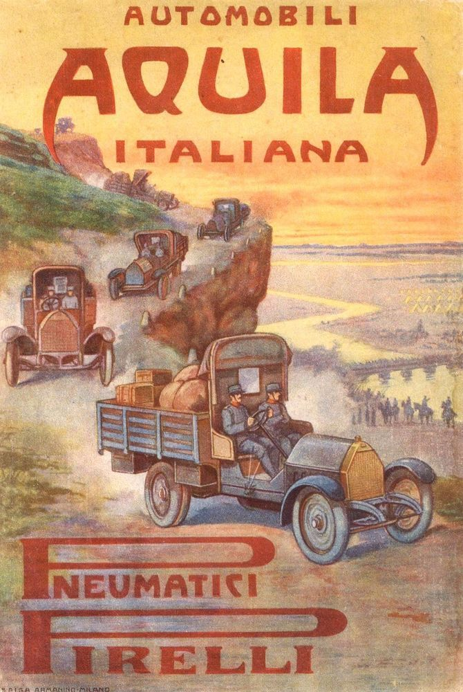 Pubblicità AUTOMOBILI AQUILA ITALIANA 1915 Advert Werbung Reklame Publicitè 117