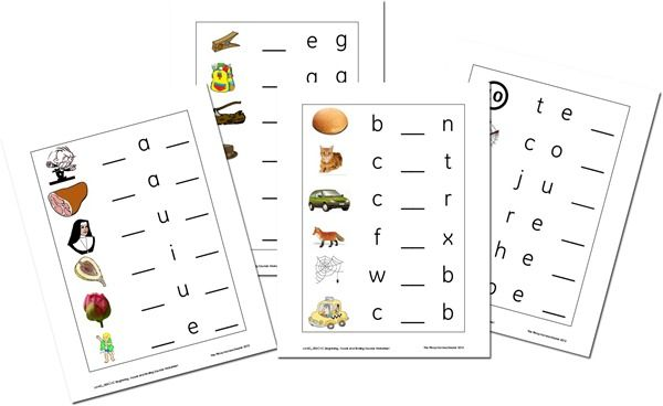 Common Worksheets » Middle Sounds Worksheet - Preschool and ...