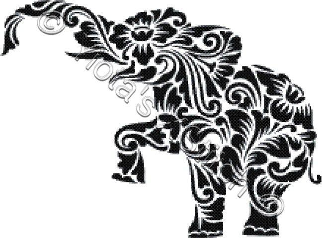 Tribal elephant cross stitch kit | Yiotas XStitch