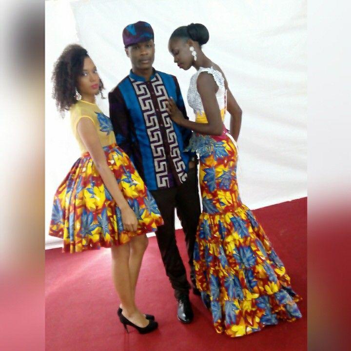 SOFITEL Hotel Ivoire Abidjan. Model: Yves keurtiss , Yorine et Christelle(metisse) #AgenceKwayoModel #Styliste: Habbib Sangaré