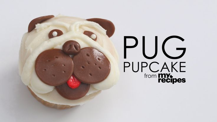 Pug Pupcakes - What I like is its simple in terms of frosting and using candies .... well, I like candies better than fondant so all is good.