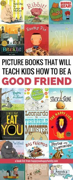 These children's books will teach your kids how to be a good friend and how to deal with friendship problems. Perfect for toddlers, preschoolers, and older kids too. But the BEST part about this list of picture books about friendship? Every book on it is 100% approved by kids *and* parents. via @kellyjholmes