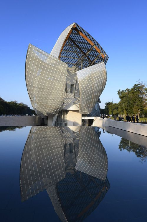 * Fondation Louis Vuitton, Paris, France designed by Frank Gehry of Gehry Partners - A must visit!