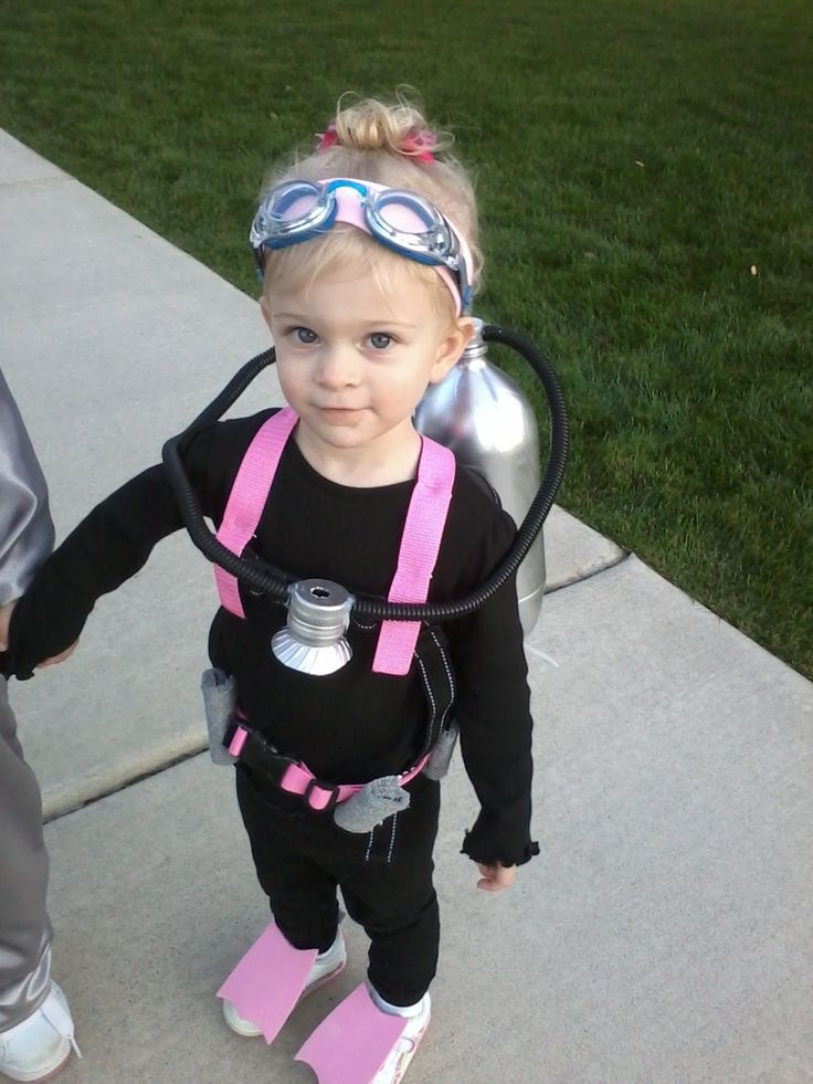 My daughter's DIY scuba diver costume :) ~ Brenden said he wanted to be a scuba diver.