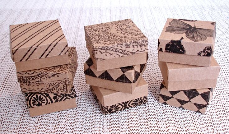Kraft mini boxes favor boxes jewelry packaging boxes   Business ideas