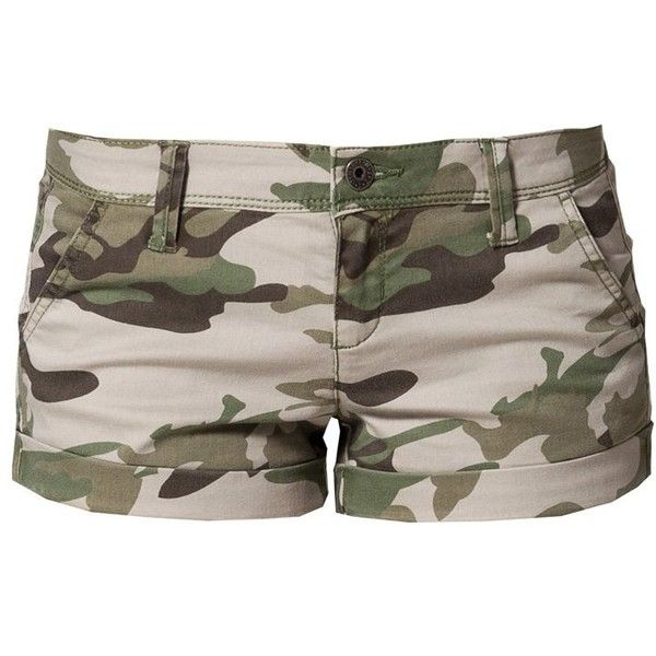 Benetton Short olive (790 ARS) ❤ liked on Polyvore featuring shorts, bottoms, pants, olive shorts, olive green shorts, benetton, green camo shorts and bermuda shorts