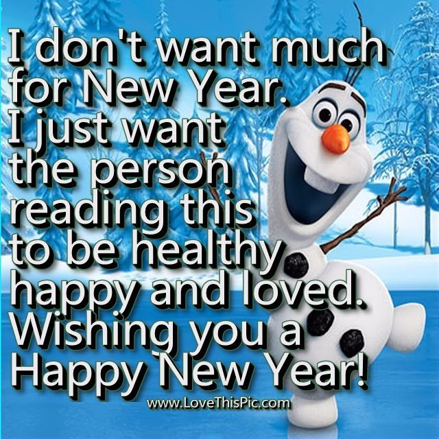 I Donu0027t Want Much For New Year