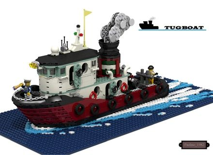 Tugboat Cerbero. My tugboat is designed to look impressive and at the same time vintage. I studied and watched many photos before i realize it. I have tried to build some char...