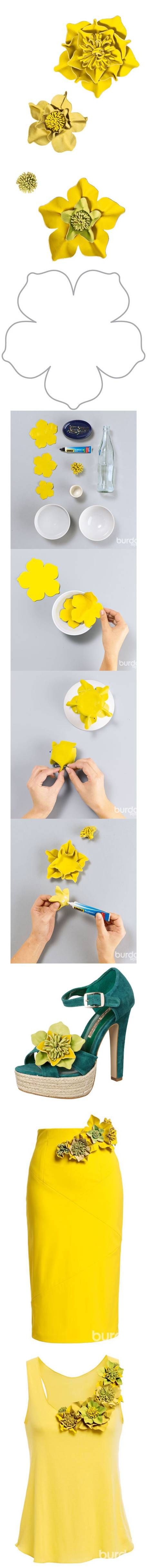 DIY Fashionable Leather Flowers http://www.buzzinspired.com/how-to-instructions/diy-fashionable-leather-flowers/