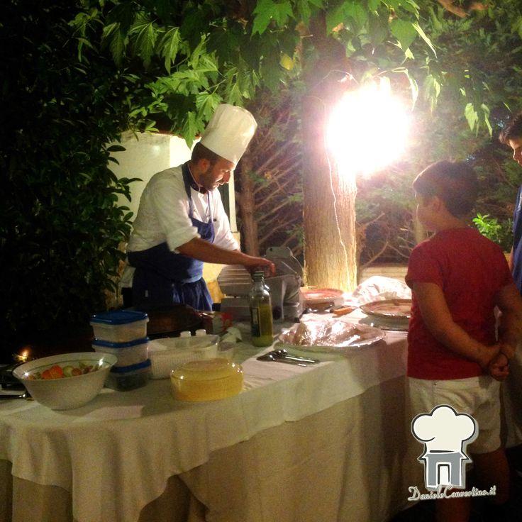 Banchetto in villa con chef a domicilio