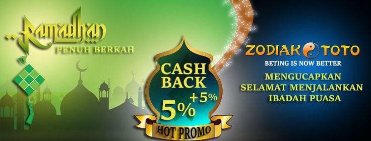 """Ramadhan Penuh Berkah Bersama @ZODIAKTOTO """"BETTING IS NOW BETTER""""  Dalam rangka memasuki bulan Ramadhan, zodiaktoto berbagi berkah dengan memberikan PROMO CASHBACK.  Dengan adanya promo cashback ini, semoga di bulan Ramadhan ini memberi berkah kepada kita semua. Cashback berlaku untuk PLAYER ataupun BANDAR DARAT.  Syarat dan Ketentuan Cashback Berkah :  Cashback berkah PLAYER :  - Lose 500.000 sd 2.000.000 = Cashback 2% - Lose 2.000.000 sd 3.500.000 = Cashback 3% - Lose 3.500.000 sd…"""