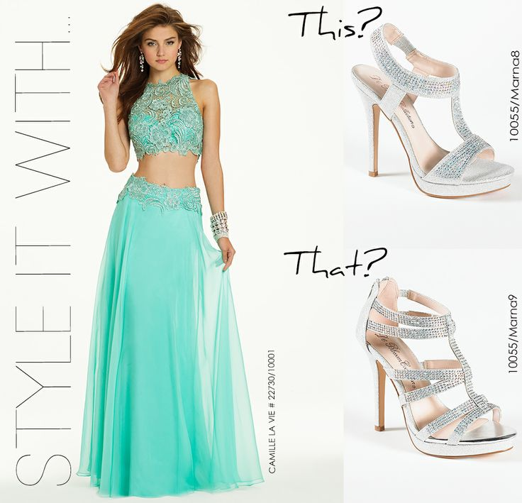 Venetian Lace Two Piece Prom Dress by Camille La Vie